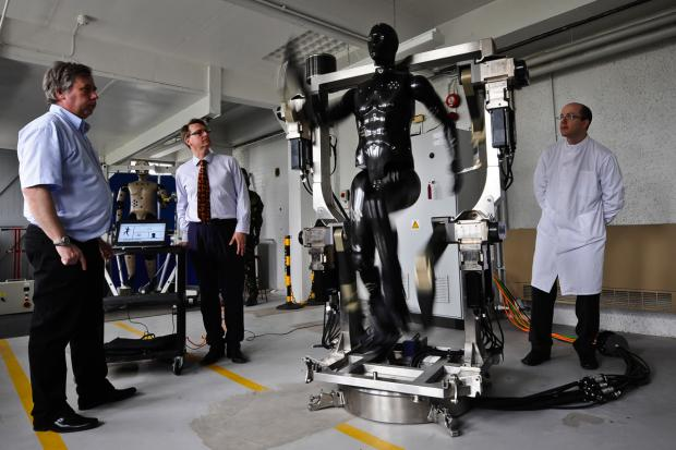 The Wiltshire Gazette and Herald: The robotic mannequin is put through its paces