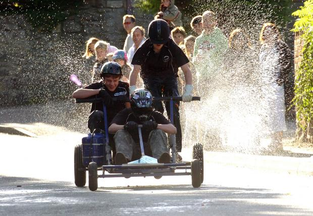 Great Cheverell Soapbox derby fun from 2010
