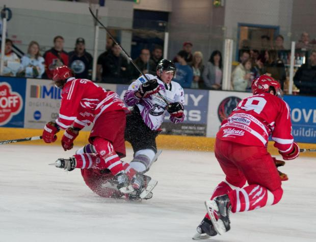 Swindon Wildcats star Alex Symonds in action against Manchester