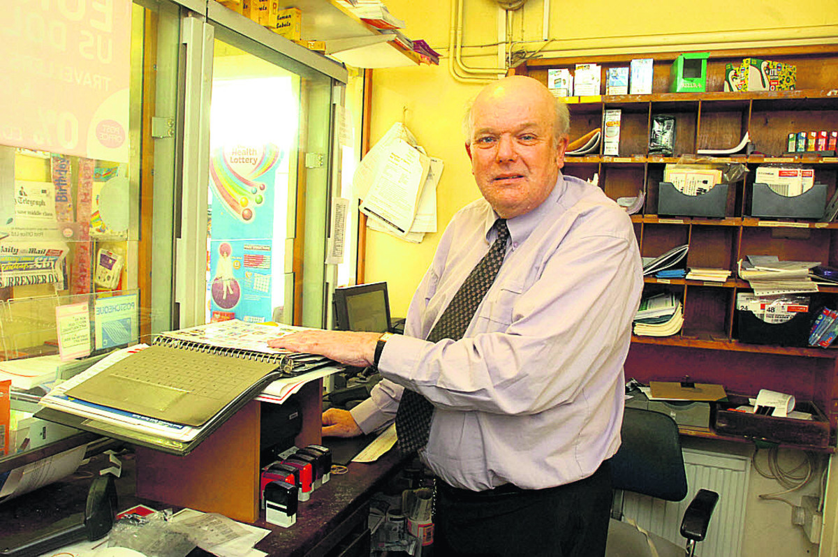Peter Smith has been behind the counter at Sutton Benger post office since the 1980s
