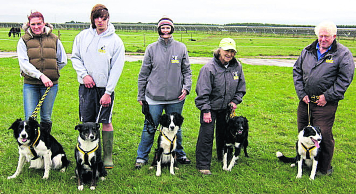 The Cotswold club's Cyclones team or (l-r); Flynn, Rocky, Dexter, Tammi (with club captain Pauline Caddick) and Poppi