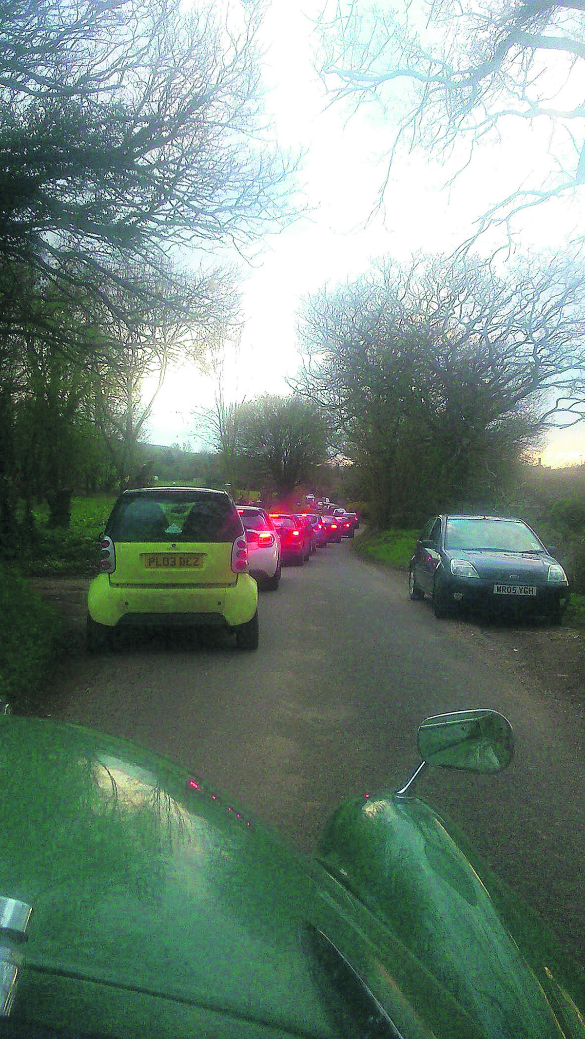 A bird's eye view of the queues from Manton to Lockeridge PICTURE: Caroline Baker