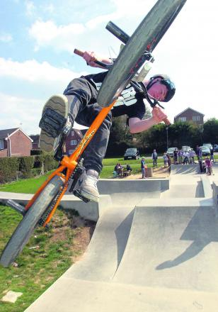 The skate park in Marlborough is a popular draw for teenagers