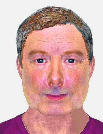 Police have released an e-fit picture of a man who stripped naked in a charity shop in Malmesbury and exposed himself