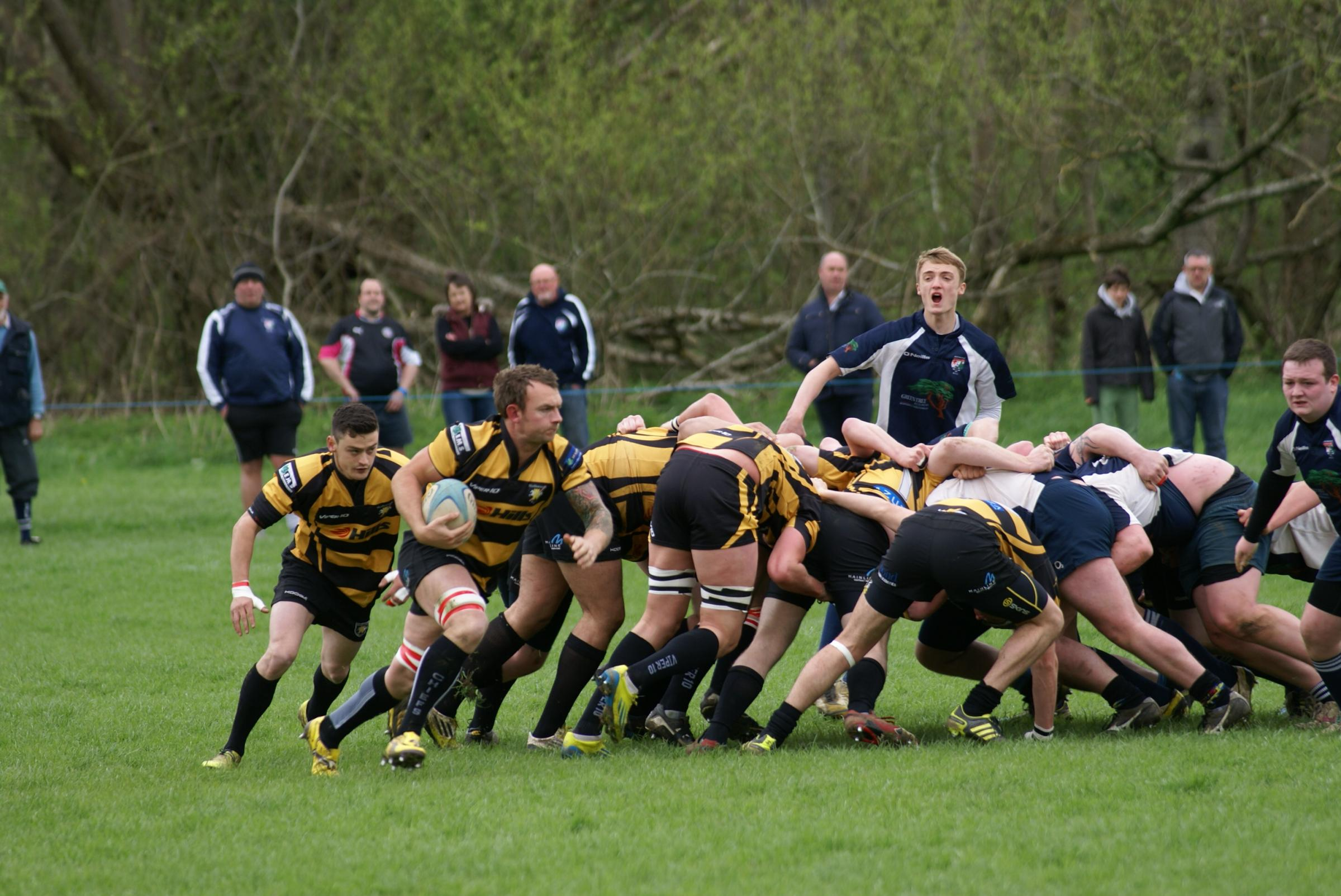 Jonny Mantle starts an attack for Marlborough