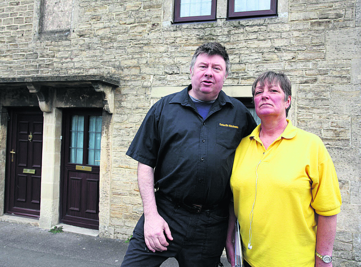 Rob and Frankie Jones' house shakes every time a bus or lorry drives past and the stone around the first floor window has moved an inch                                              (VS261) By VICKY SCIPIO