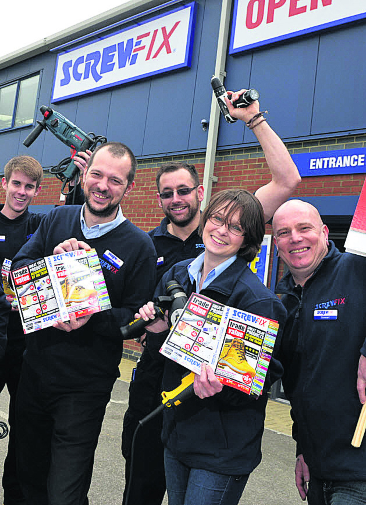 Staff prepare for the opening of a Screwfix DIY store on Hopton Park industrial estate next week which will create 13 jobs