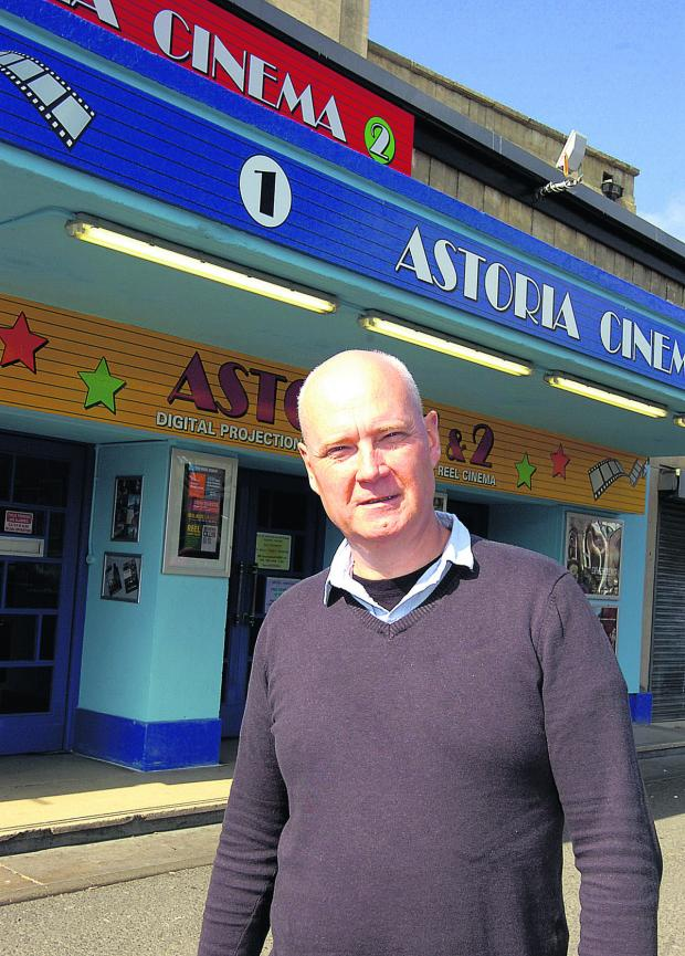 The Wiltshire Gazette and Herald: Manager Jeremy Hancock outside the revamped Astoria Cinema