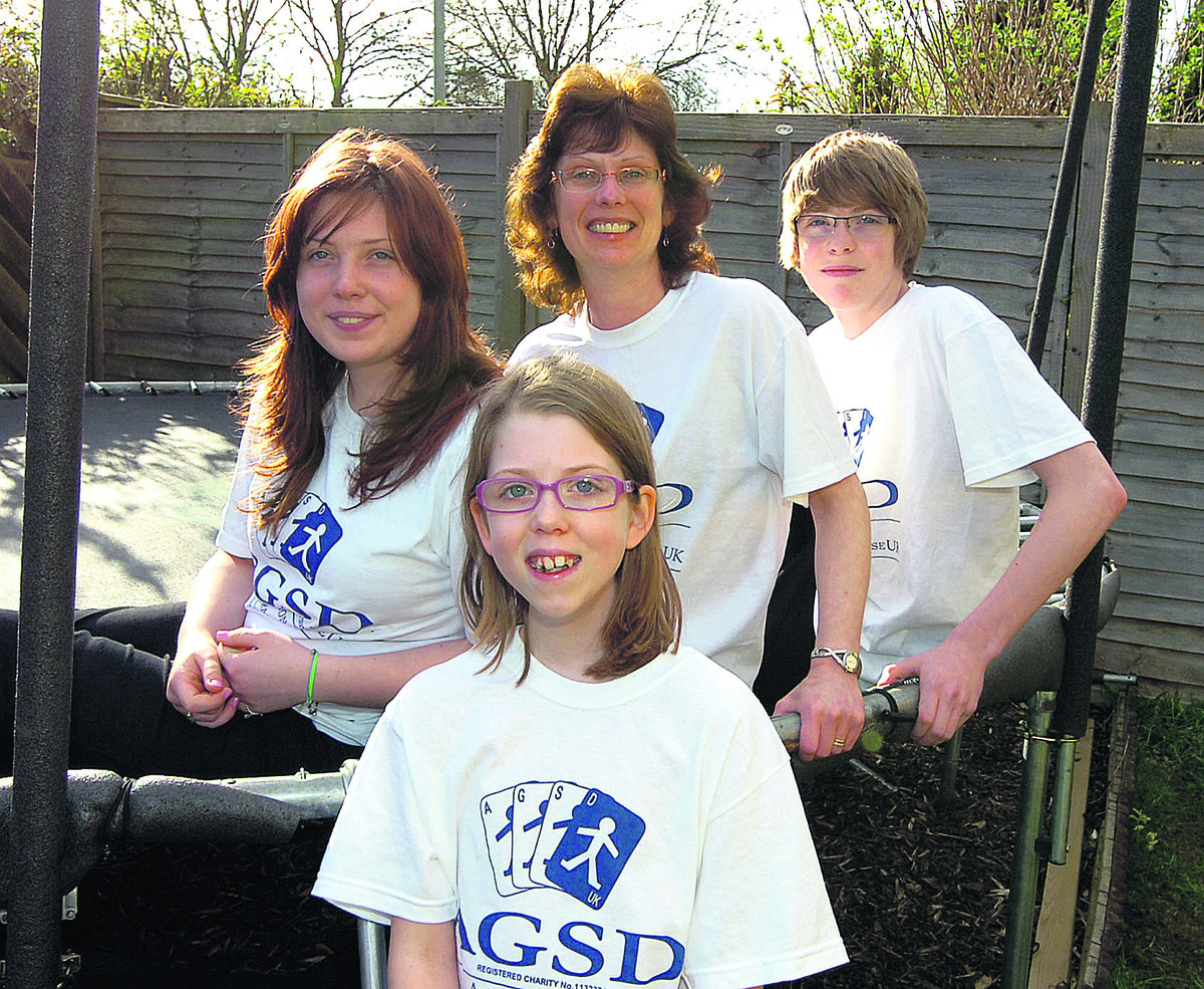 Azaria Moyse with her sister Kezia, mum Jo and brother Isaac are going to do the 10km walk together