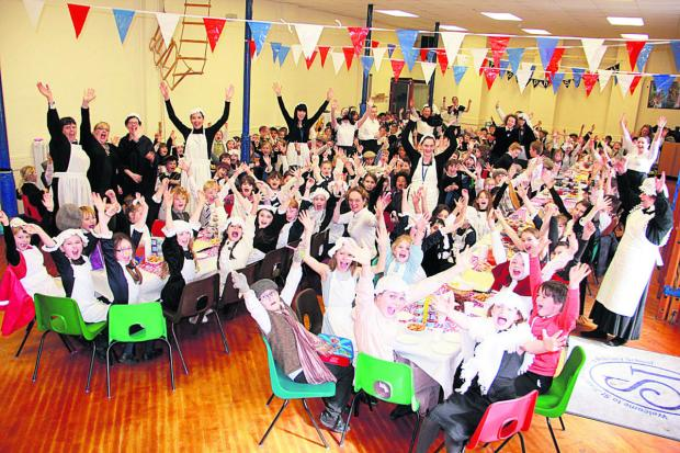 The Wiltshire Gazette and Herald: St Joseph's School celebrates its 150th anniversary by dressing in V