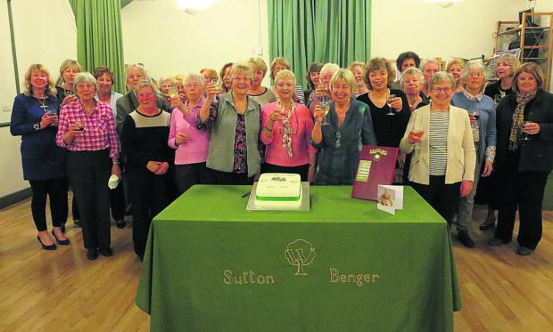 Members of Sutton Benger WI celebrate their 40th anniversary