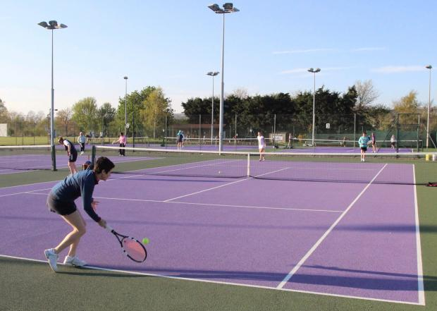 The Wiltshire Gazette and Herald: Striking new colours at Devizes Tennis Club, off London Road. The club is allowing free play on May 17 and 18 as part of the Great British Tennis Weekend