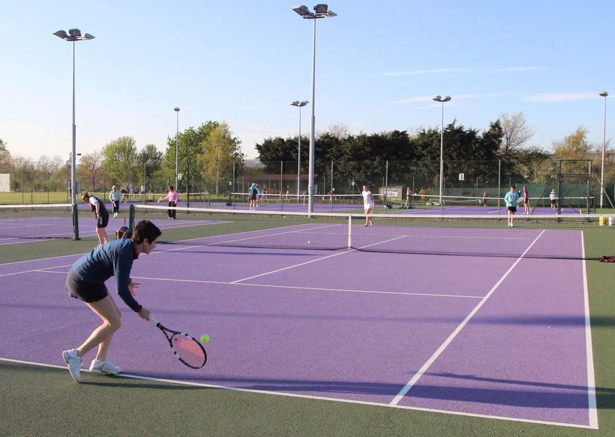 Striking new colours at Devizes Tennis Club, off London Road. The club is allowing free play on May 17 and 18 as part of