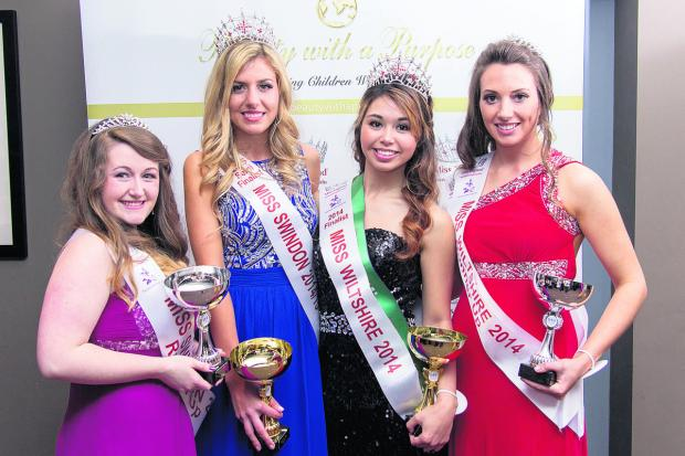 Pretty maids all in a row – centre left is Miss Swindon, Catissa Creighton with Nicole Cole, winner of Miss Wiltshire and the two runners-up. Picture: CMG Photography
