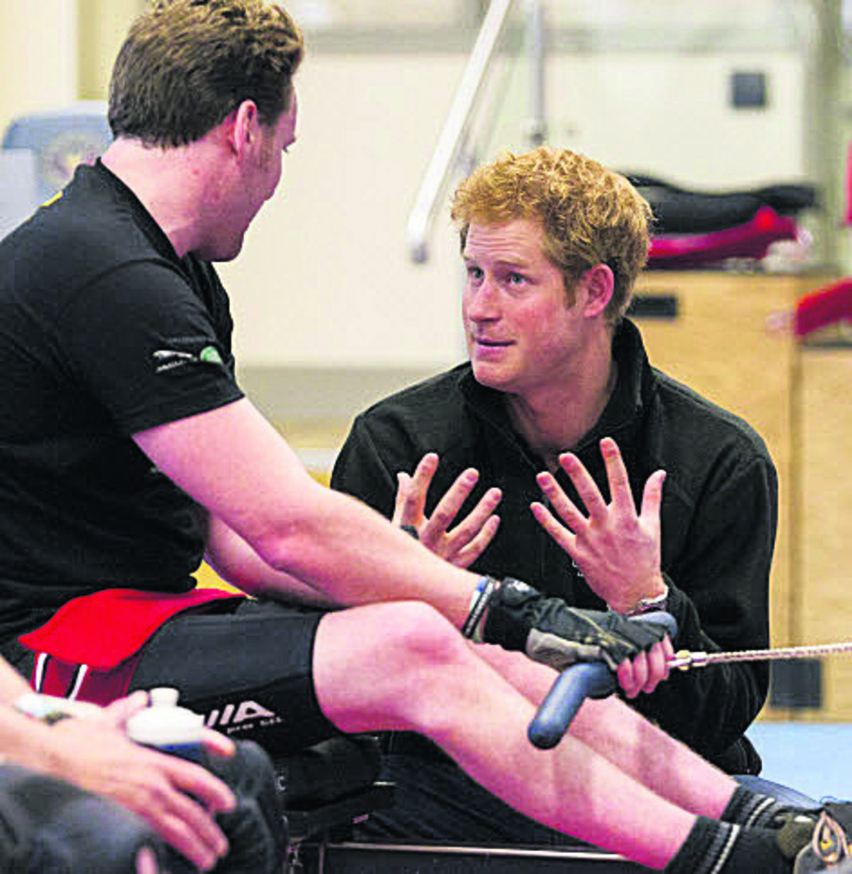 Prince Harry meets veterans at Wiltshire's Help for Heroes gym