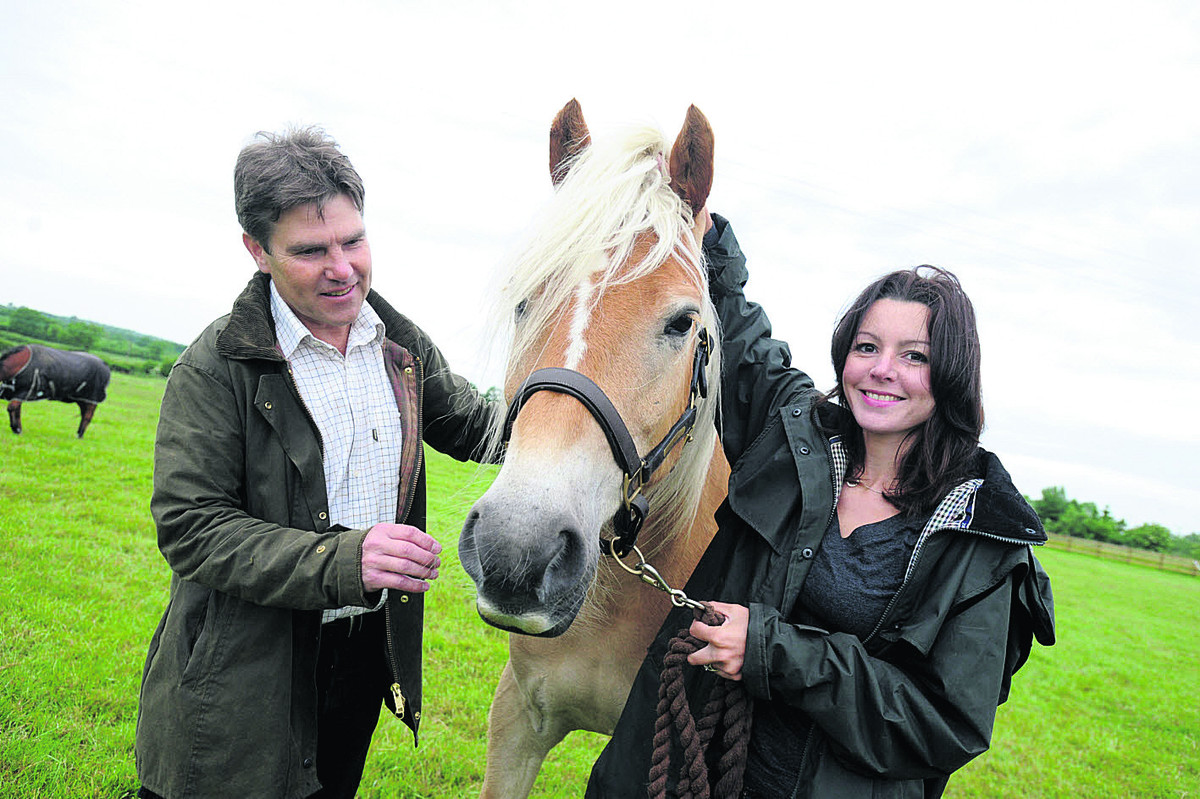 Rein and Shine owners John McDonald and Jo Sharpe with Attie