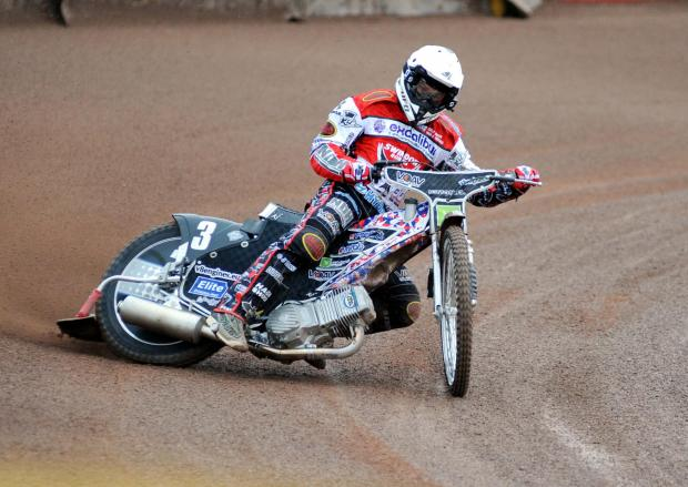 Under fire Swindon Robins rider Simon Gustafsson