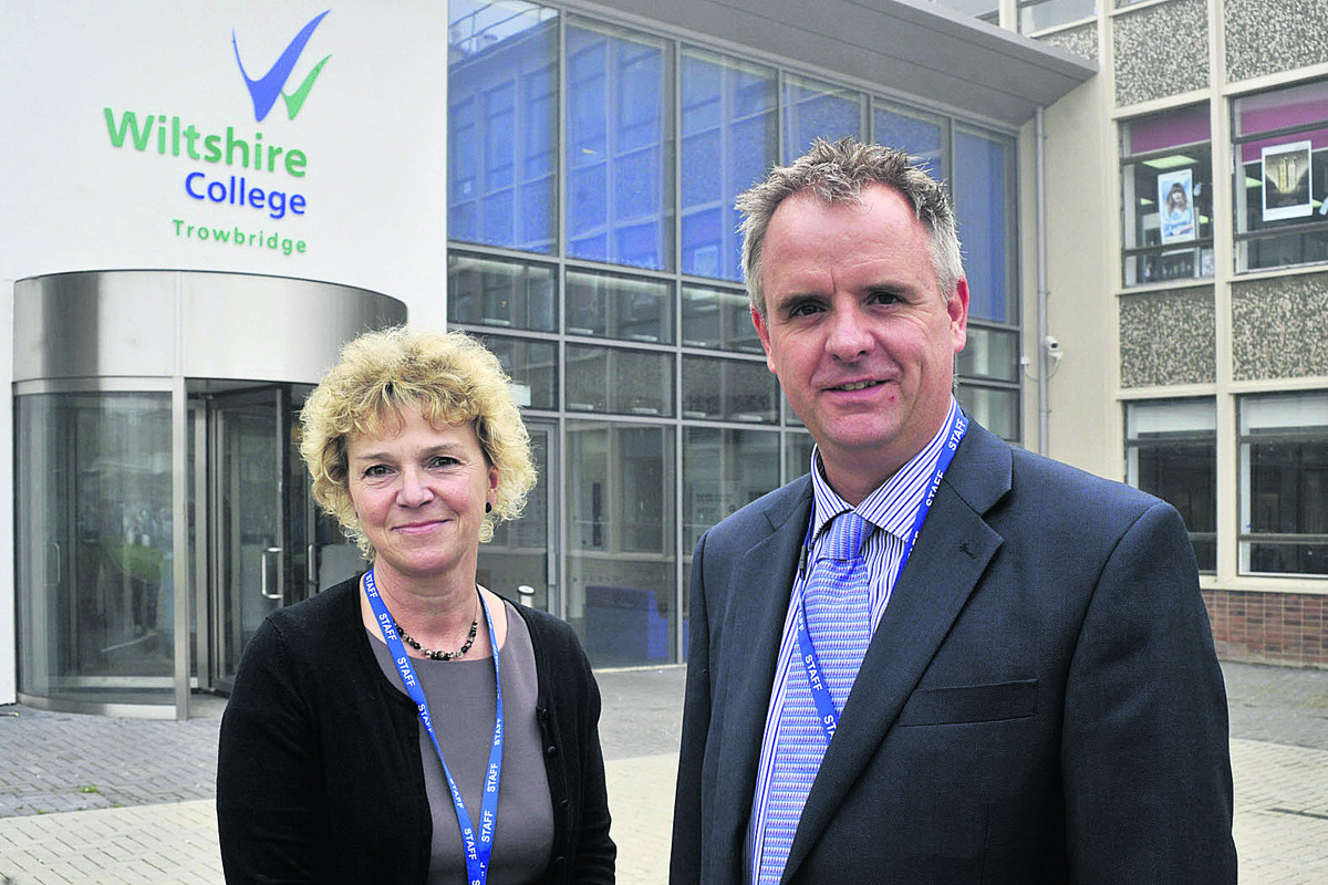 Acting principal Amanda Burnside, with vice-principal Ben Allen, says communication is key to winning staff over as Wiltshire College sets about recovering from a poor Ofsted report    (49363-2) By glenn phillips
