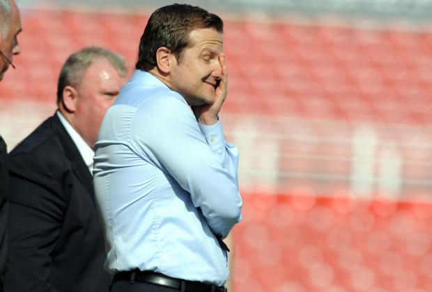 Mark Cooper struggles to watch against Rotherham United