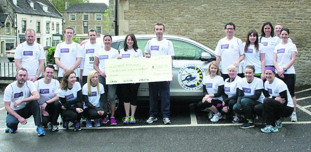 Goughs solicitors in Corsham raised £1,500 for Wiltshire Air Ambulance in the Corsham 10k