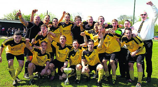 Melksham Town Reserves celebrate their Junior Cup triumph