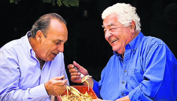 The Wiltshire Gazette and Herald: Greedy Italians Antonio Carluccio, right, and Gennaro Contaldo