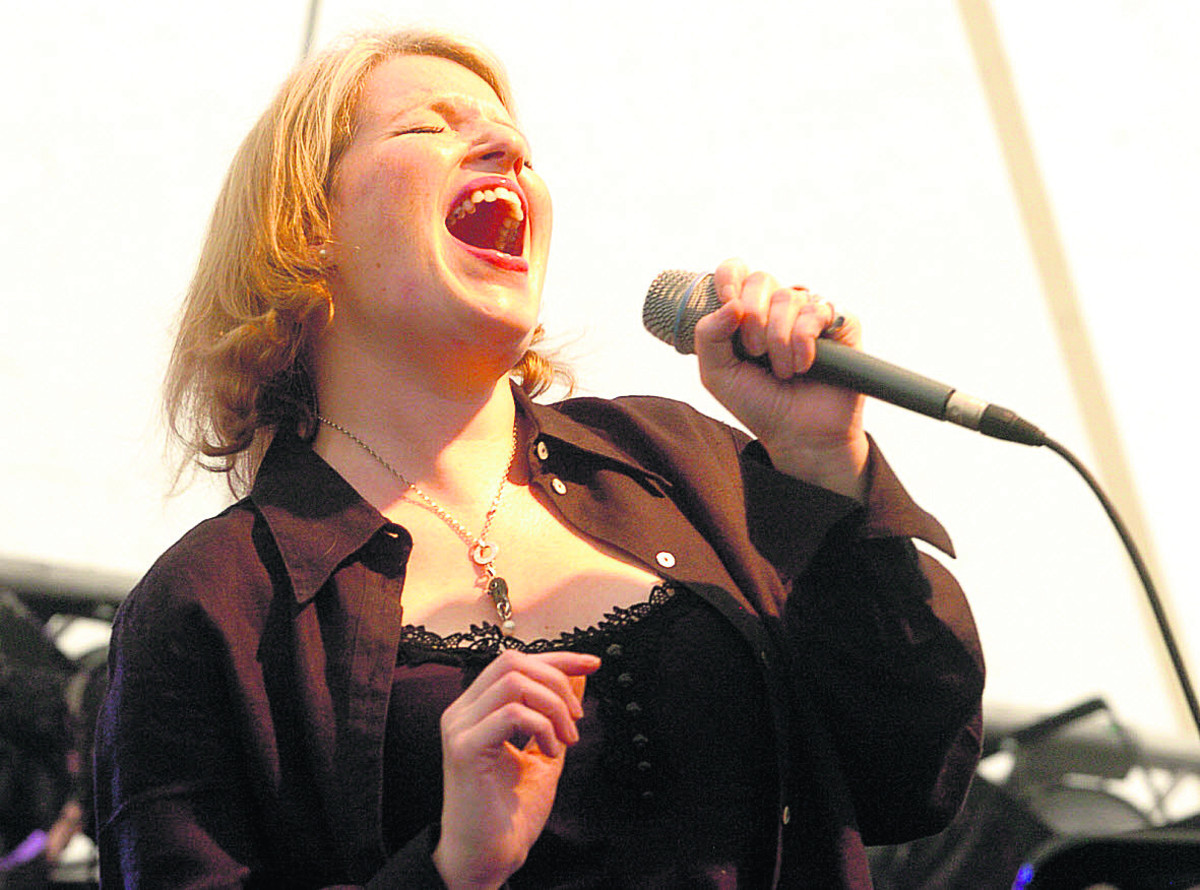 Clare Teal performs at a previous jazz festival in July 2012