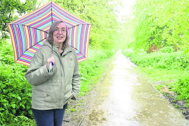The Wiltshire Gazette and Herald: Philippa Morgan of Quakers Walk Protection Group    (DV1284) By Diane Vose