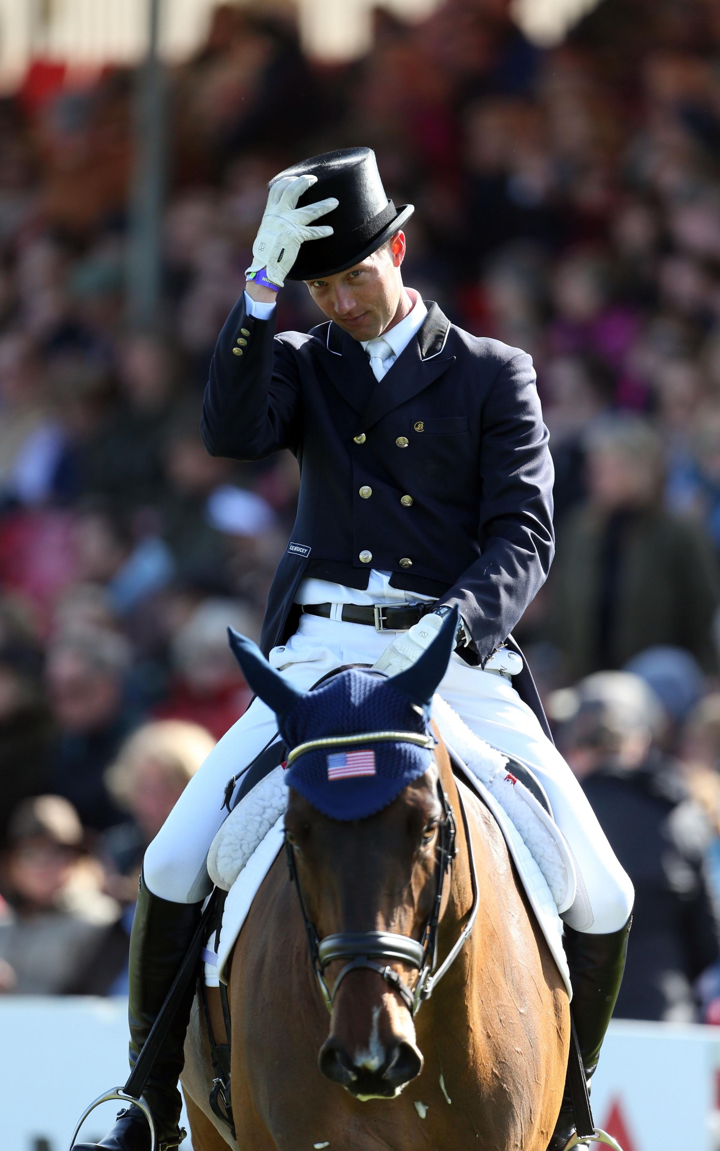 BADMINTON HORSE TRIALS: Montgomery charges to the top