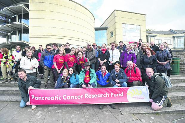 The Wiltshire Gazette and Herald: Friends and family of Kerry Palmer walked for Pancreatic Cancer Research  (DV1292) By Diane Vose