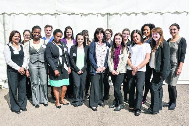 Student nurses attending Great Western Hospital's recruitment day
