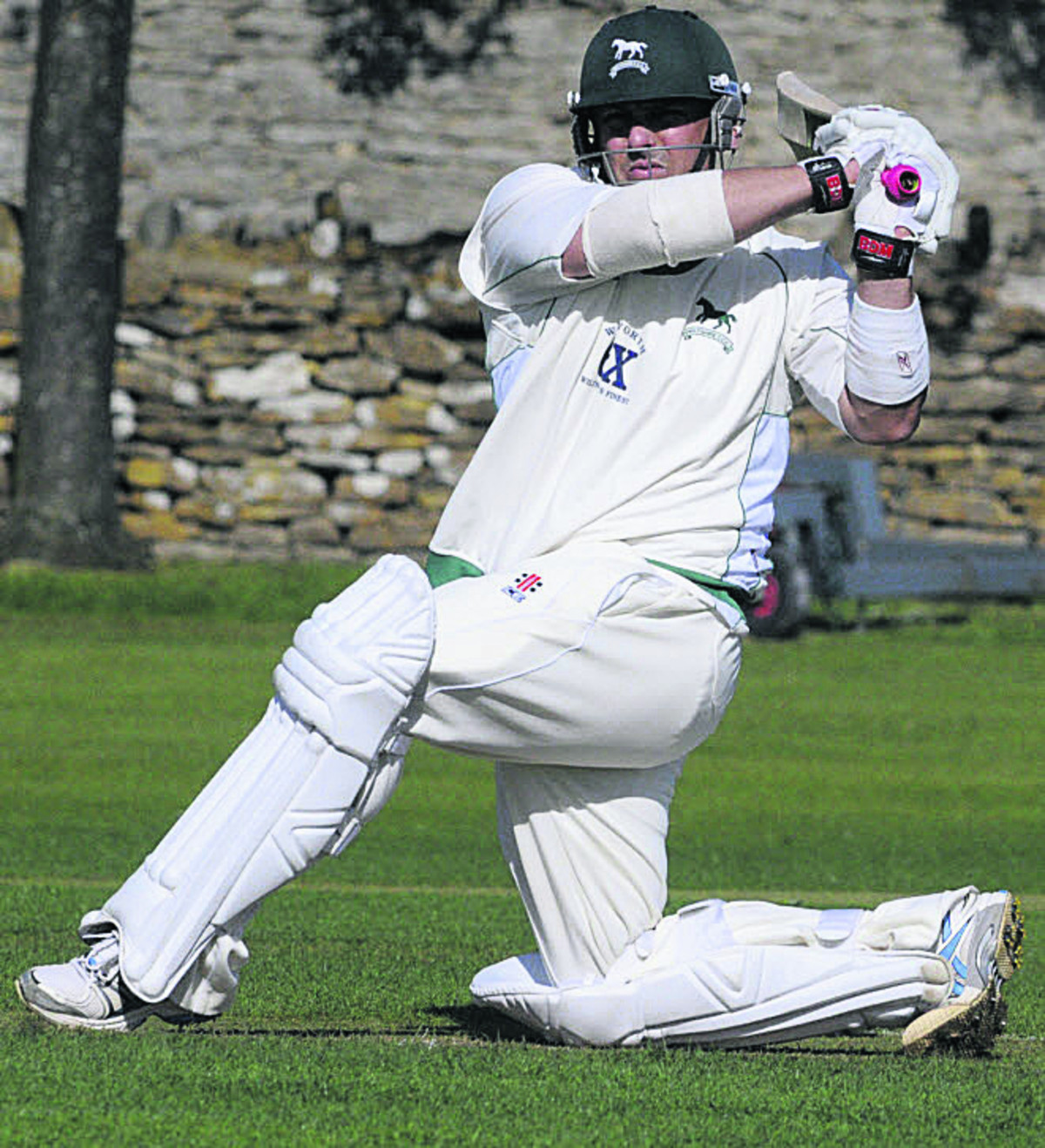 Wiltshire's Joe Breet hits a boundary during last weekend's victory over Cornwall