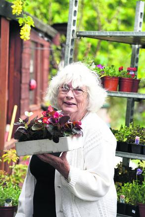 Charity stalwart Margaret Spackman held her last ever plant sale at the weekend