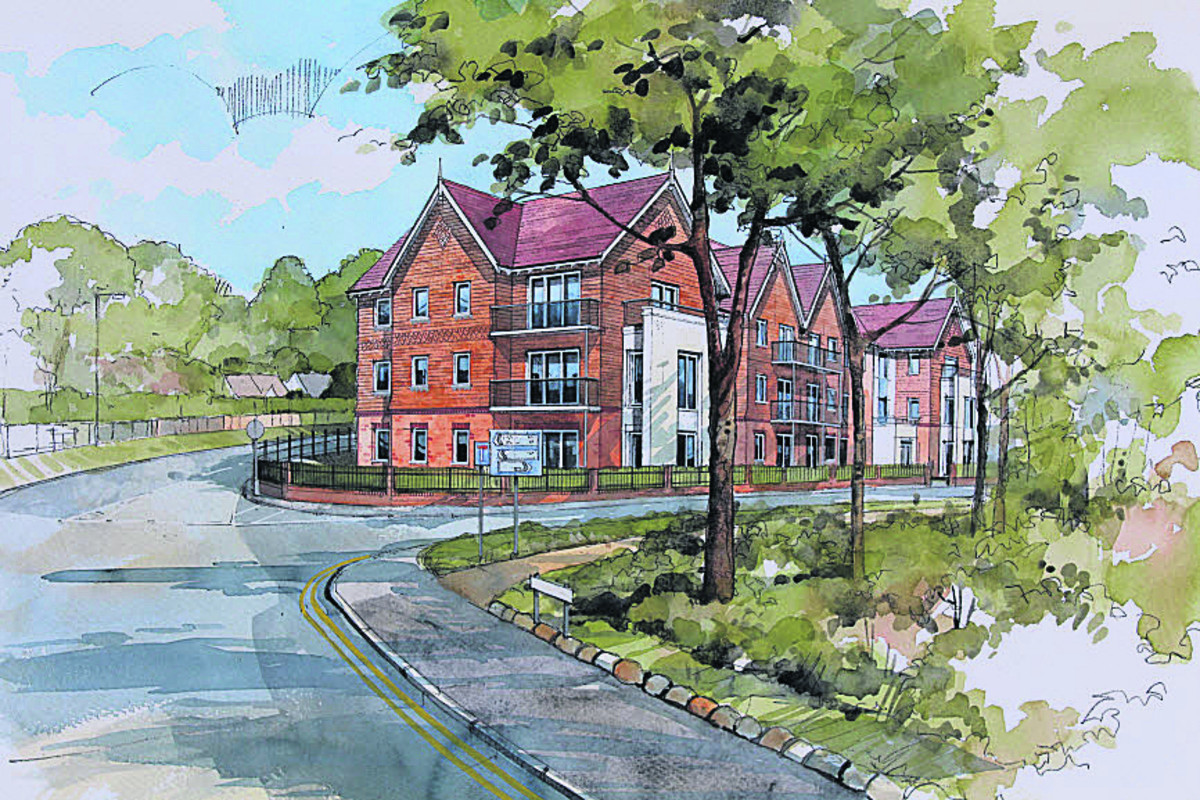 An artist's impression of the retirement flats McCarthy & Stone want to build in Marlborough