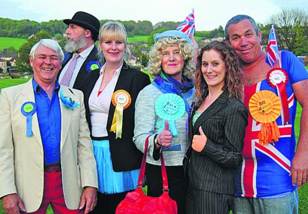 Box independence 'campaigners' Barry Sims, Steve Knight, Emily Knight, Kath Knight, Zoë Pearce and Mike Curd