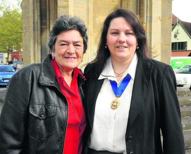 Soon-to-be Mayor Sarah Bridewell with her mother, former mayor Jane Burton (VS348) By VICKY SCIPIO