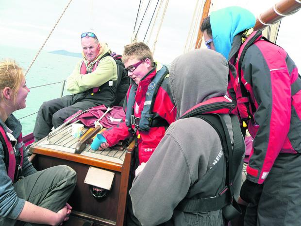 The Wiltshire Gazette and Herald: The young carers on their sailing trip
