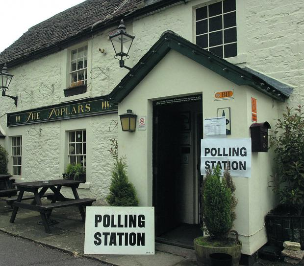 The Wiltshire Gazette and Herald: The Poplars Inn in Wingfield, near Trowbridge, will be a polling station today between 7am and 10pm