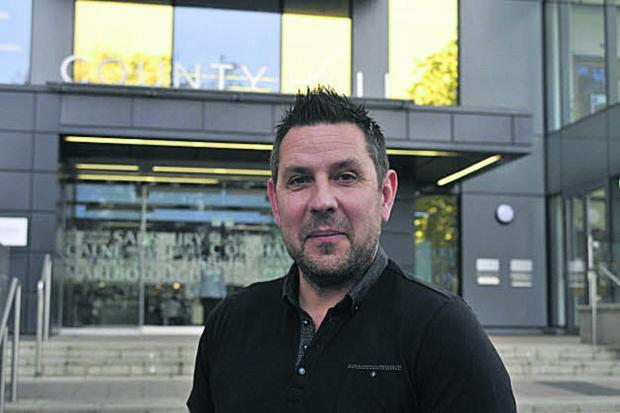 Alan Tomala, regional officer for Unite, outside County Hall, Trowbridge. Picture by Glenn Phillips
