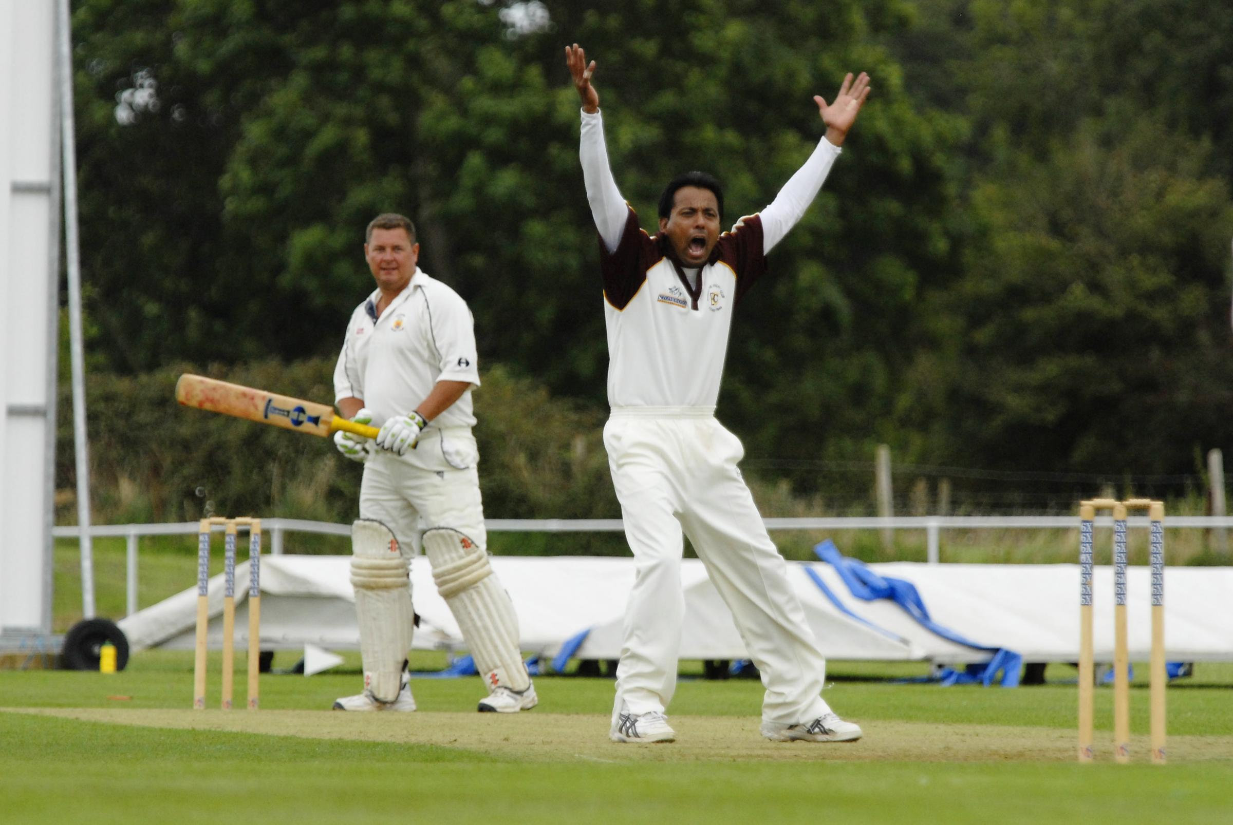Four wickets from Naeem Khan (right) weren't enough to prevent Biddestone slipped to defeat at Warminster