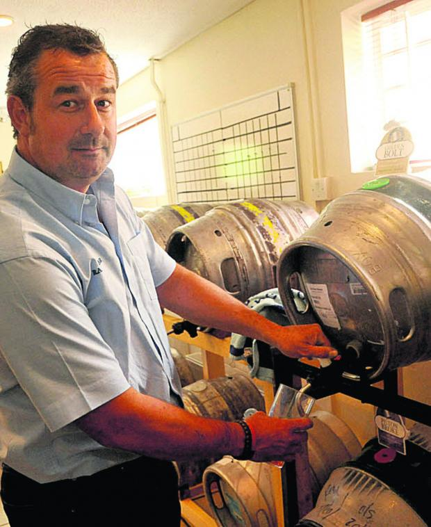 The Wiltshire Gazette and Herald: Tim Jensen at Malmesbury's beer and sausage festival