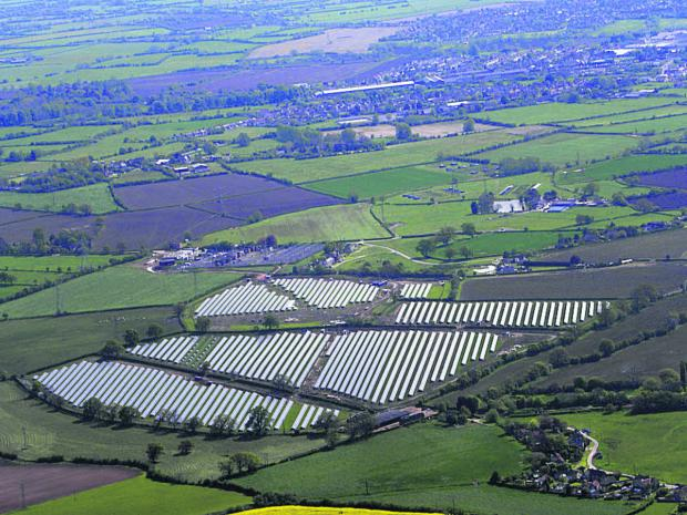 The Wiltshire Gazette and Herald: John Phillips' view of the solar panels at Broughton Gifford