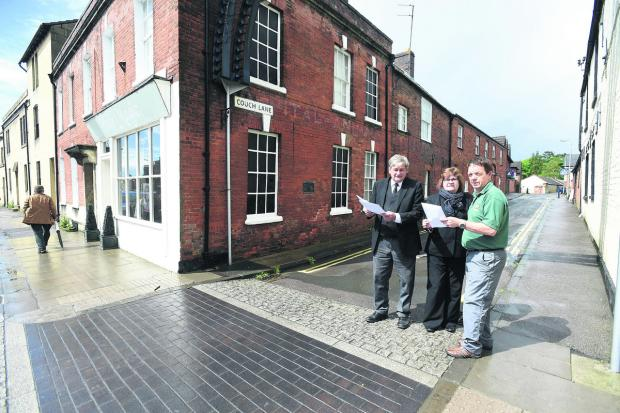 Traders Charles and Paula Winchcombe, and Andy Sheppard in Couch Lane