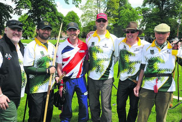 An archery taster day was held on The Green in Devizes, where people took the chance to try the sport for free. From left are Kris Parker, Martin Page, Mark Rudd, John Bradshaw, Nick Sherman and Leslie Smith