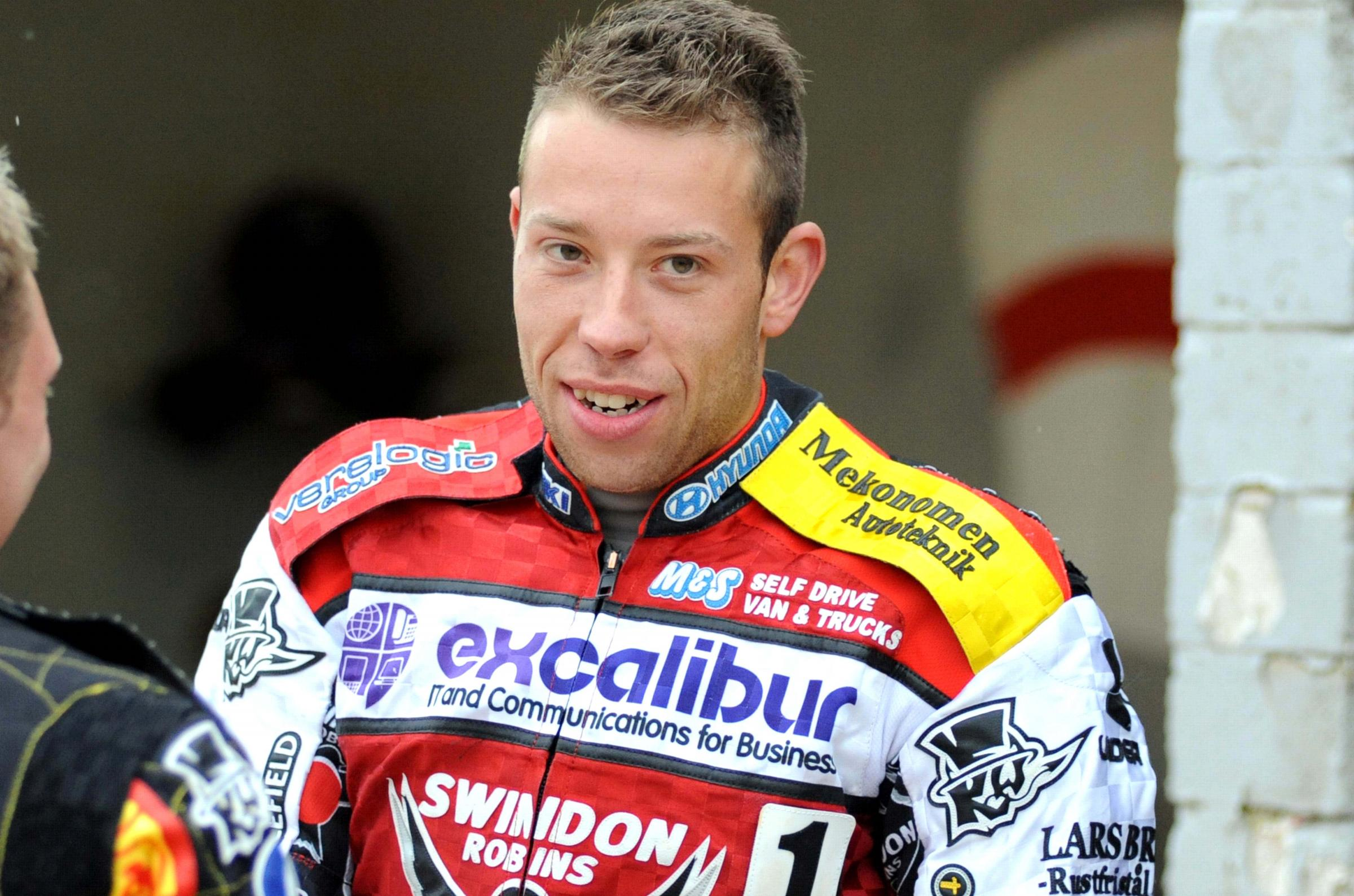 Swindon Robins rider Peter Kildemand
