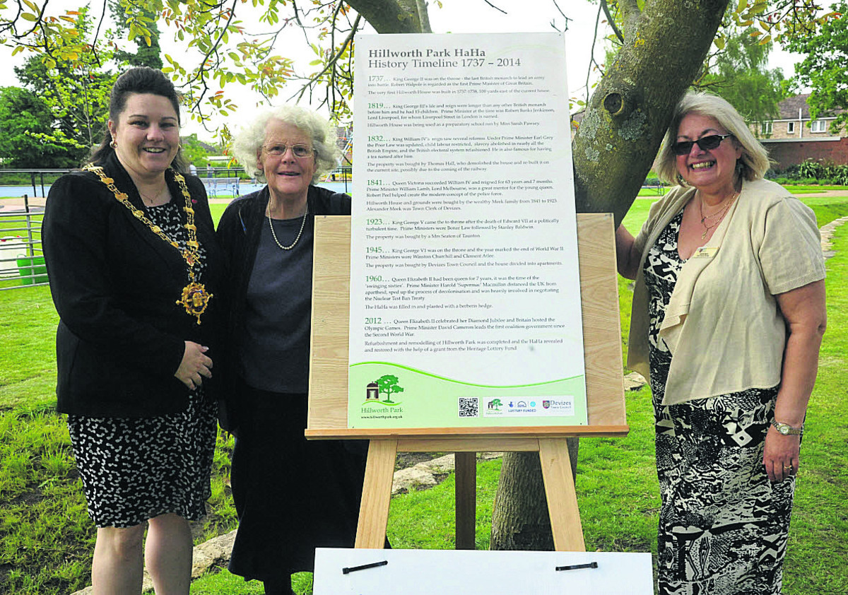 Devizes ha-ha celebrated at party in Hillworth Park