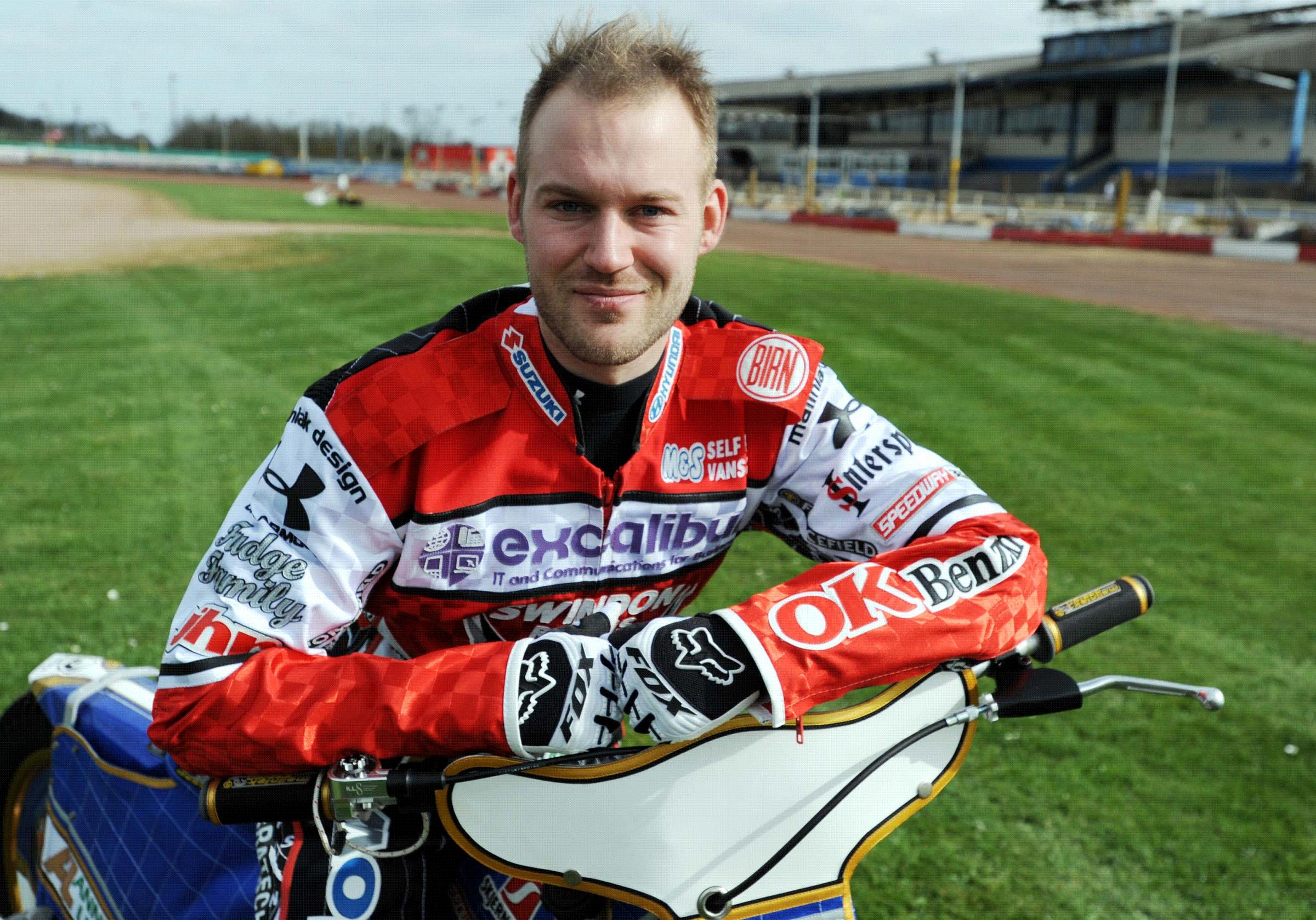 Former Robins' rider and now guest Nicolai Klindt