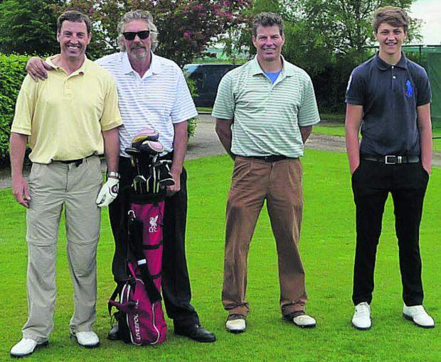 The Wiltshire Gazette and Herald: The winning team at the Bag4Sport Golf Day are (l-r): John Hawkins, Phil Ireson, John Bathe and Duncan Bathe