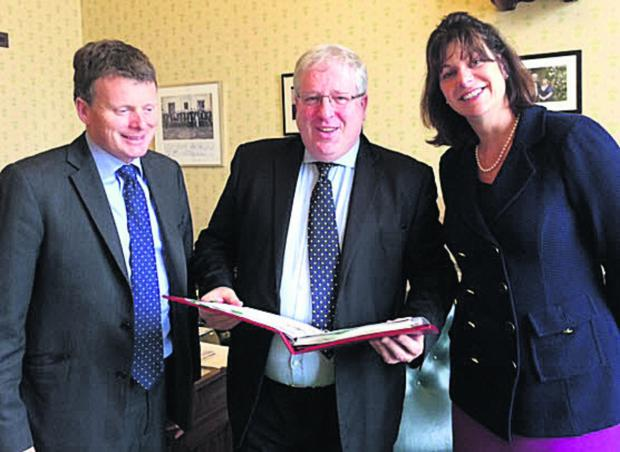 Richard Benyon, the MP for Newbury, Patrick McLoughlin, Secretary of State for Transport, and Devizes MP Claire Perry