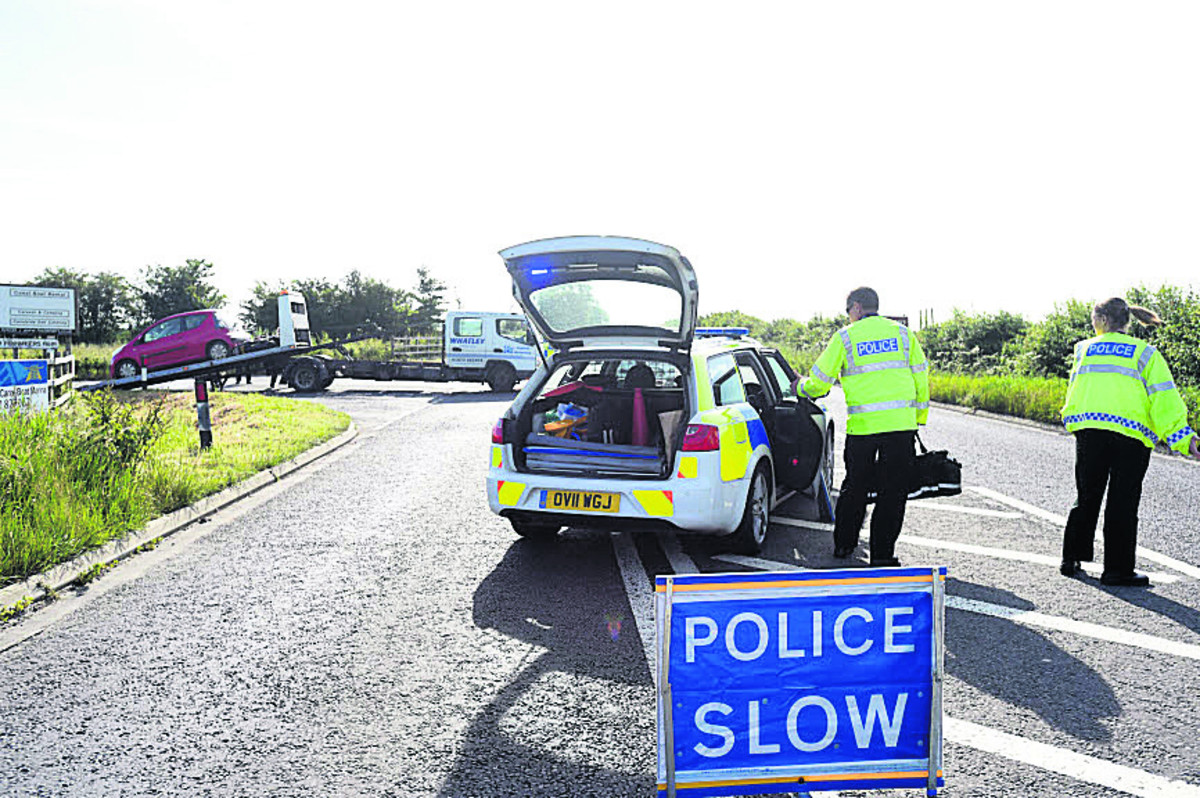 Police plea for witnesss after accident closes A361 at Caen Hill